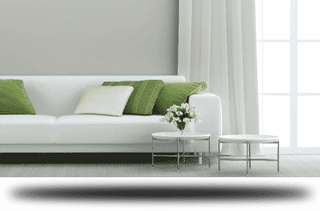 grey living room white couch